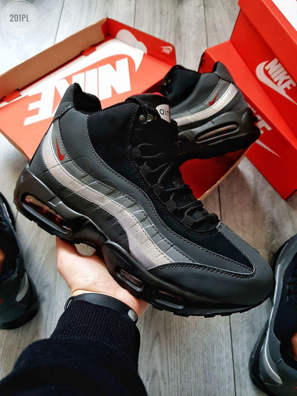 ЗИМА!!!! Мужские кроссовкиNike Sneakerboot 95 Winter Grey (р. 42.5 44 45) Серые