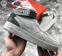 Мужские кроссовки Nike Air Force 1 Mid Hight Grey (р. 44) Серые, фото 1