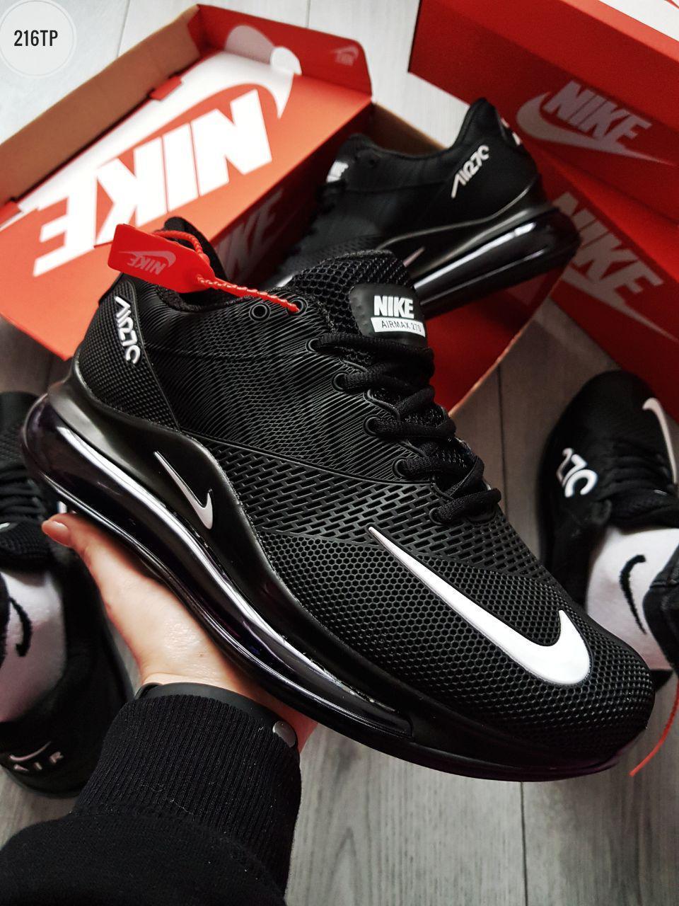 Мужские кроссовки Nike Air Max 720 Black/White (р. 44) Черные