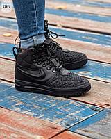 ЗИМА!!! Мужские кроссовки Nike Lunar Force 1 Duckboot Black Winter, фото 1
