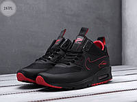 Мужские кроссовки Nike Air Max 90 Mid Winter Black/Red (р. 41 42 43 44 45) Черные, фото 1