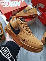 ЗИМА!!! Мужские кроссовки Nike Air Force Low Winter (р. 44) Коричневые зимние, фото 1