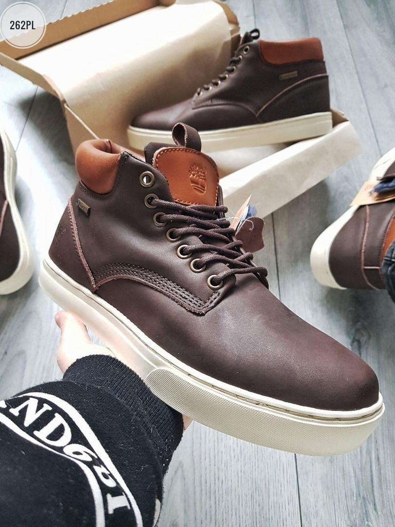 ЗИМА!!! Мужские ботинки Timberlаnd Winter Brown (р. 41, 42.5,44, 45) Коричневые зимние