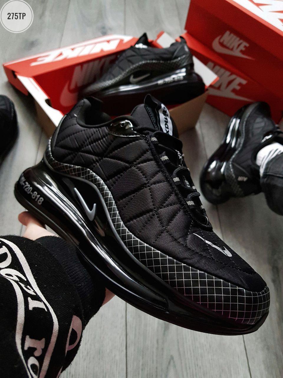 Мужские кроссовки Nike Air Max 720-818 Black (р. 41 42 43 44 45) Черные