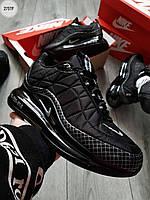 Мужские кроссовки Nike Air Max 720-818 Black (р. 41 42 43 44 45) Черные, фото 1