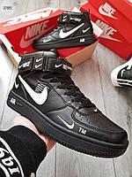 Мужские кроссовки Nike Air Force Black (р. 40 41 42 43 44) черные, фото 1