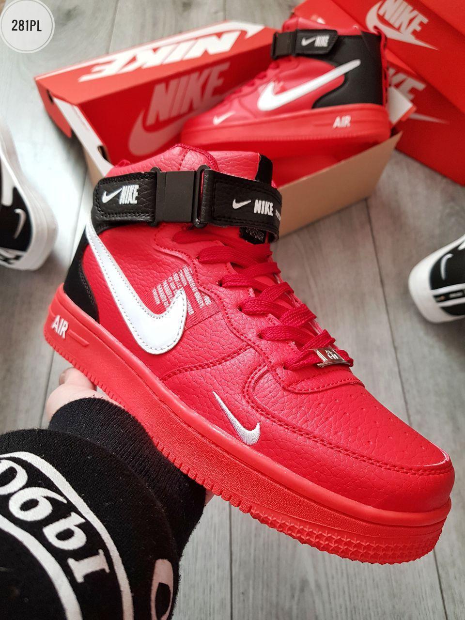 Мужские кроссовки Nike Air Force Red (р. 40 41 42 43 44)