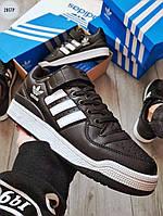 Мужские кроссовки Adidas forum Black, фото 1