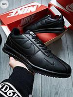Мужские кроссовки Nike Cоrtez All Black (р. 42 43 44 45 46) Черные, фото 1