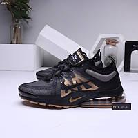 Мужские кроссовки Nike VaporMаx Black/Gold (р.40 41 42 44) Черные, фото 1