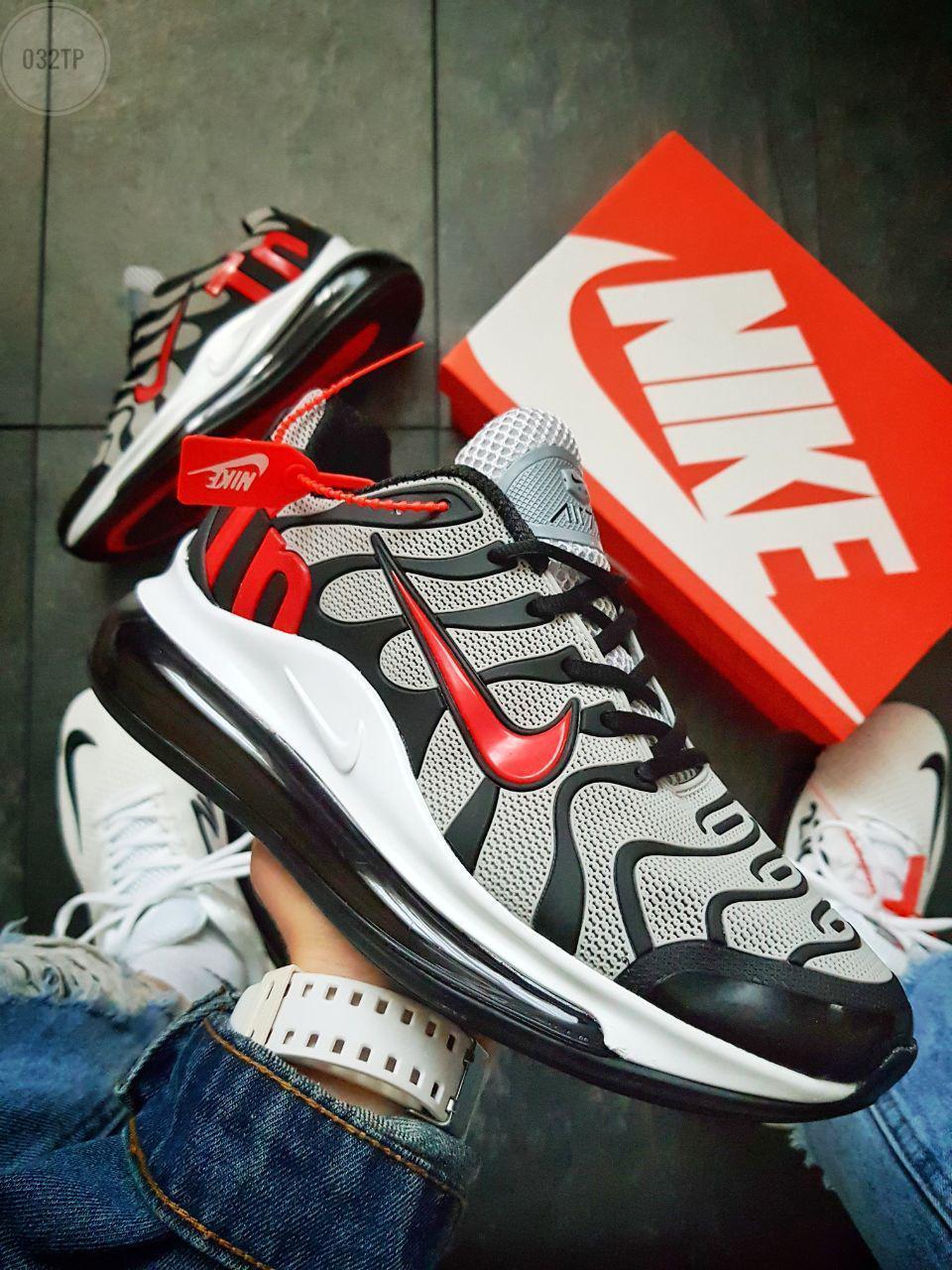 Мужские кроссовки Nike Air TN Plus Grey/Red (р. 41 42 43 44) Серые