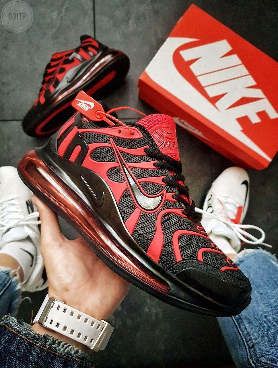 Мужские кроссовки Nike Air TN Plus Black/Red (р. 41 42 43) Красные с черным