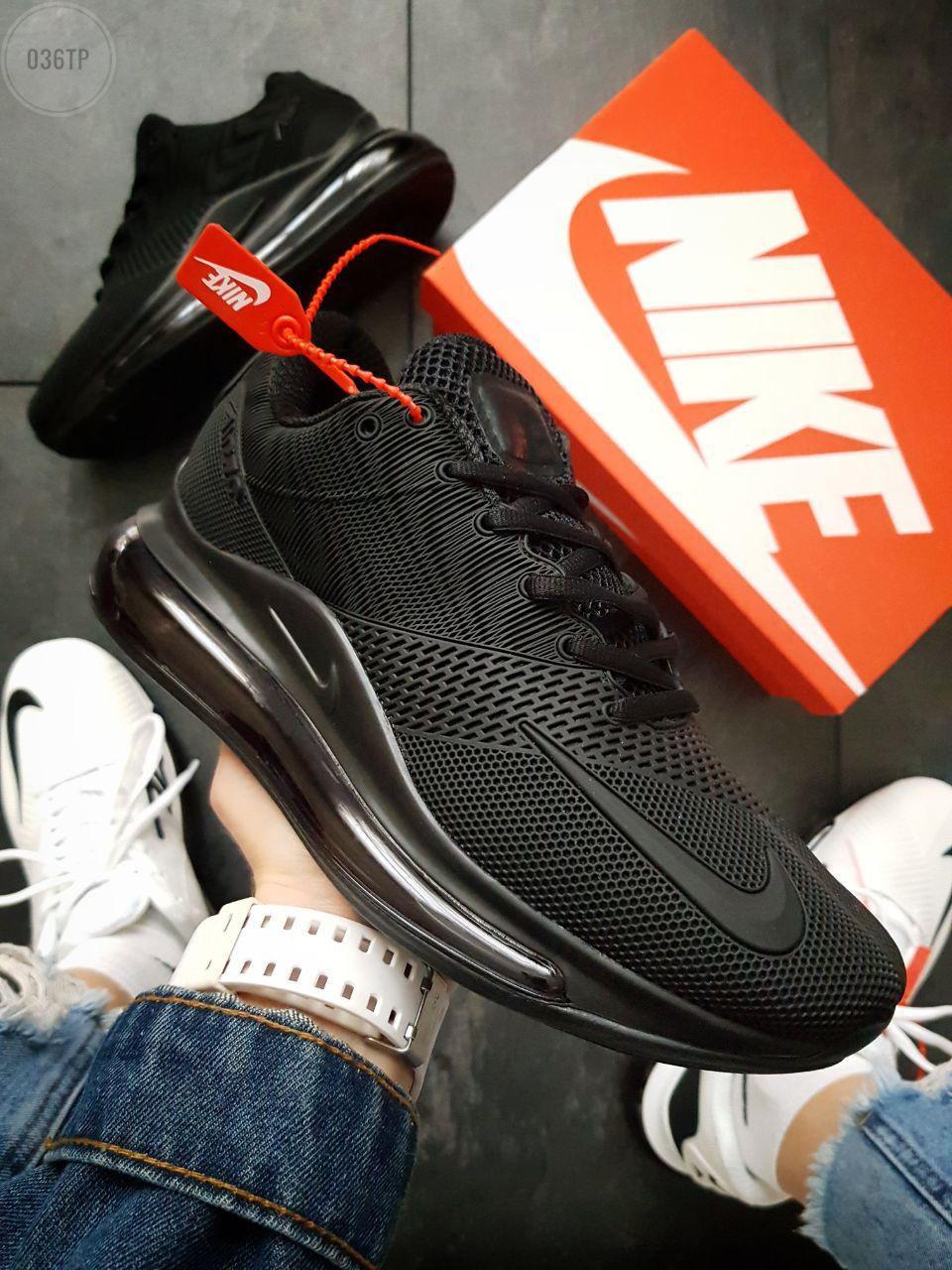 Мужские кроссовки Nike Air Max 720 Black (р. 41 43 44 45) Черные
