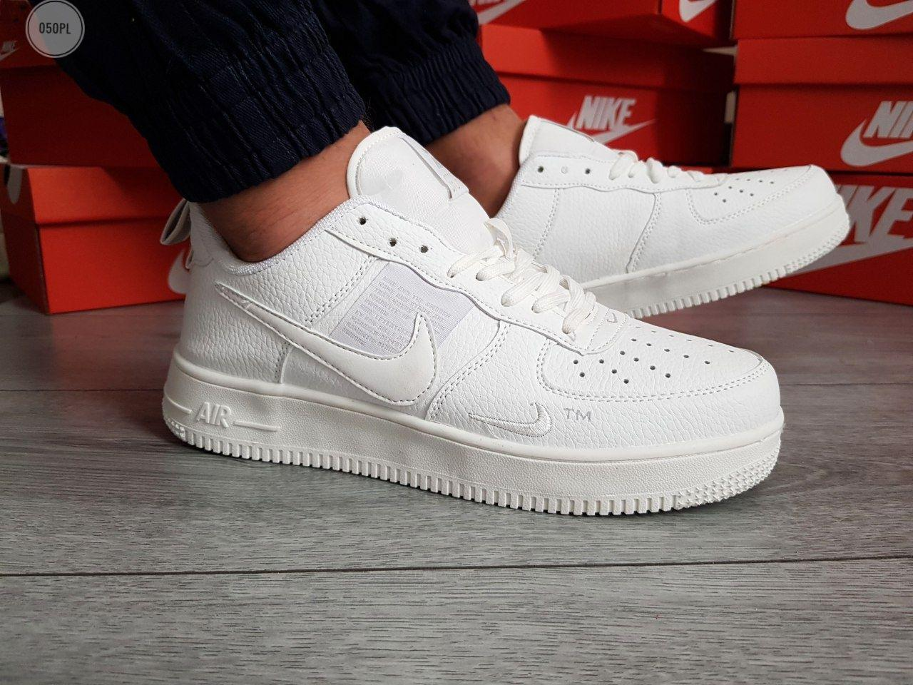 Мужские кроссовки Nike Air Force 19 Low White (р. 41 42 43 44 45) Белые