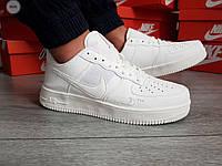Мужские кроссовки Nike Air Force 19 Low White (р. 41 42 43 44 45) Белые, фото 1