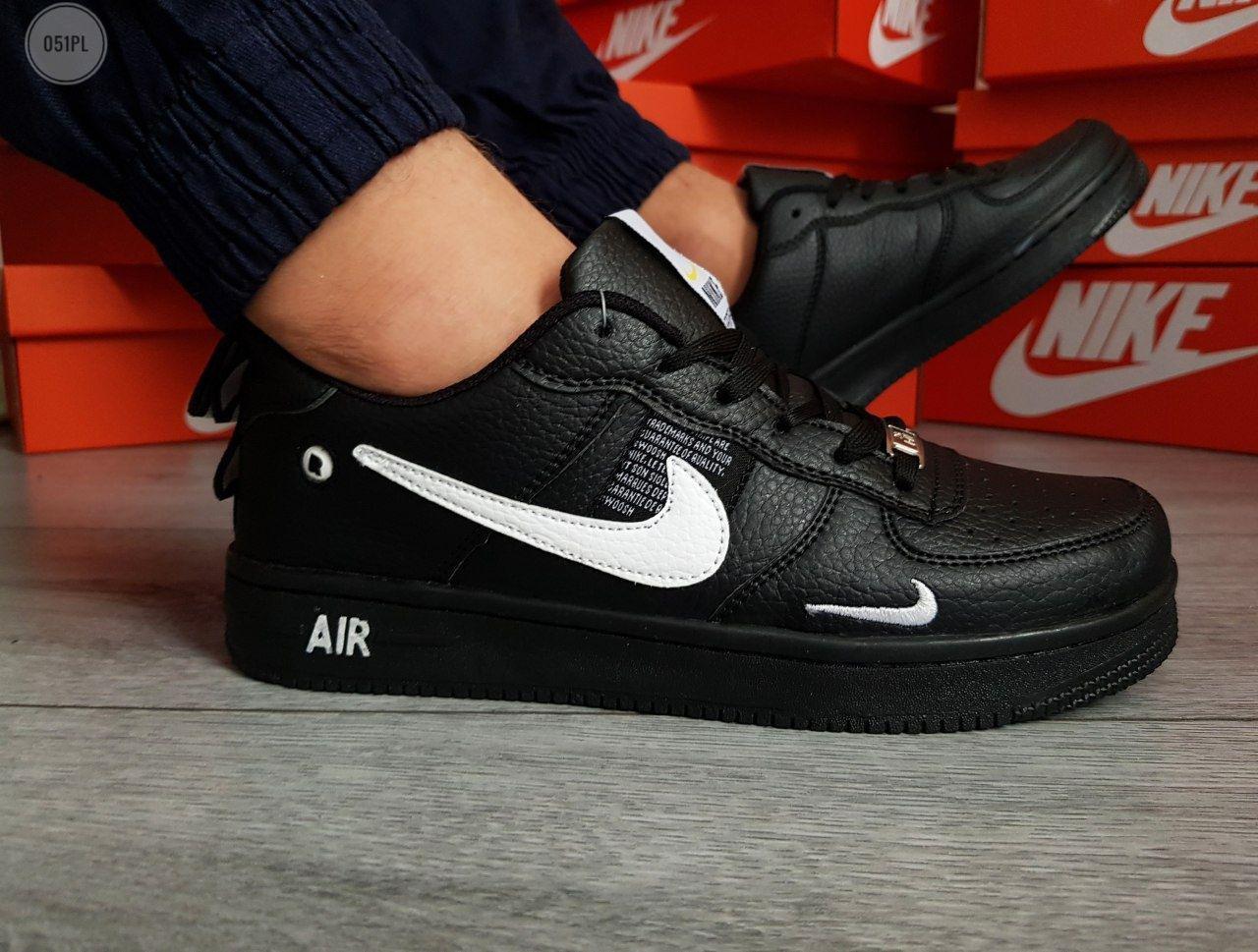 Мужские кроссовки Nike Air Force 19 Low Black (р. 41 42 43 44 45) Черные