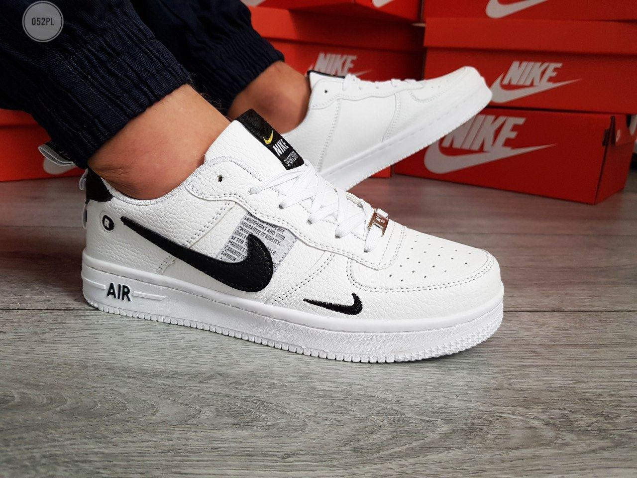 Мужские кроссовки Nike Air Force 19 Low White/Black (р. 40 41 42 43 44) Белые