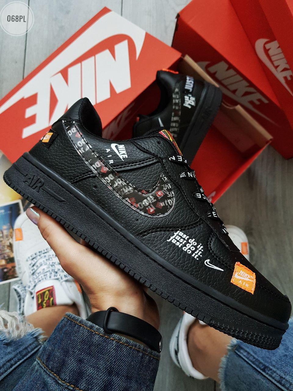 Мужские кроссовки Nike Air Force Low Black (р. 40) черные