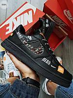 Мужские кроссовки Nike Air Force Low Black (р. 40) черные, фото 1