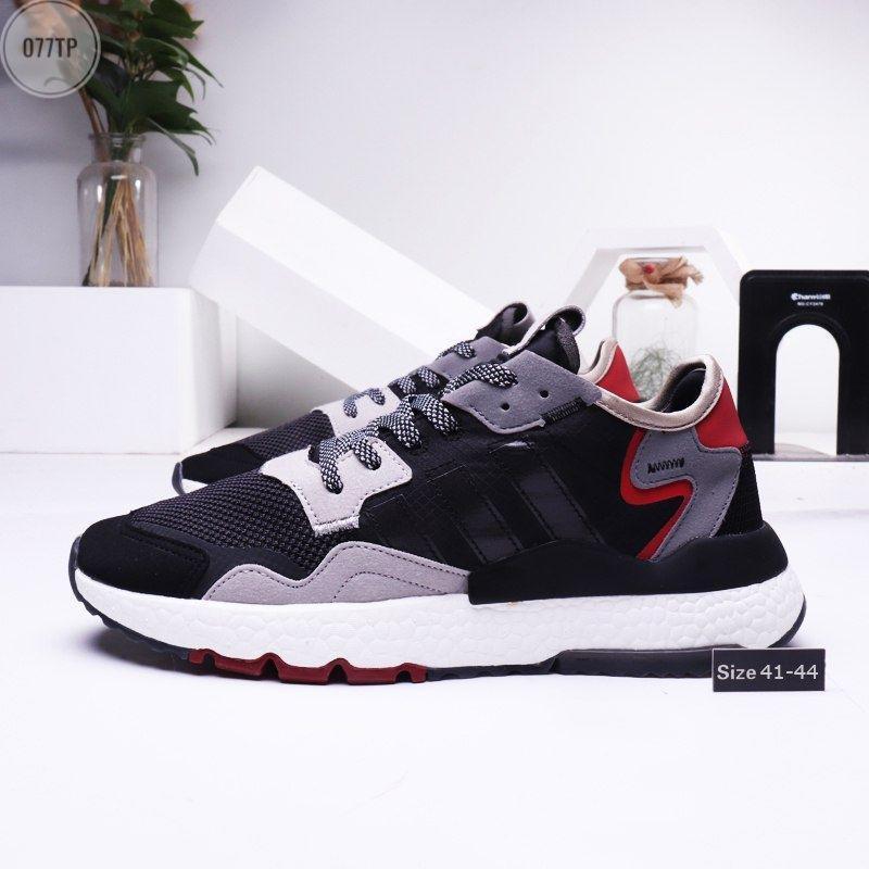 Мужские кроссовки Adidas Nite Jogger (р. 41 42 43 44) черные с серым