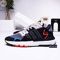 Мужские кроссовки Adidas Nite Jogger (р. 41 42 43 44) черные