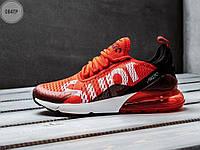 Мужские кроссовки Nike Air Max 270 Supreme (р. 40-45) Красные, фото 1