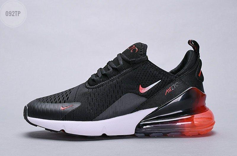 Мужские кроссовки Nike Air Max 270 black|red (р. 42.5 и 43)