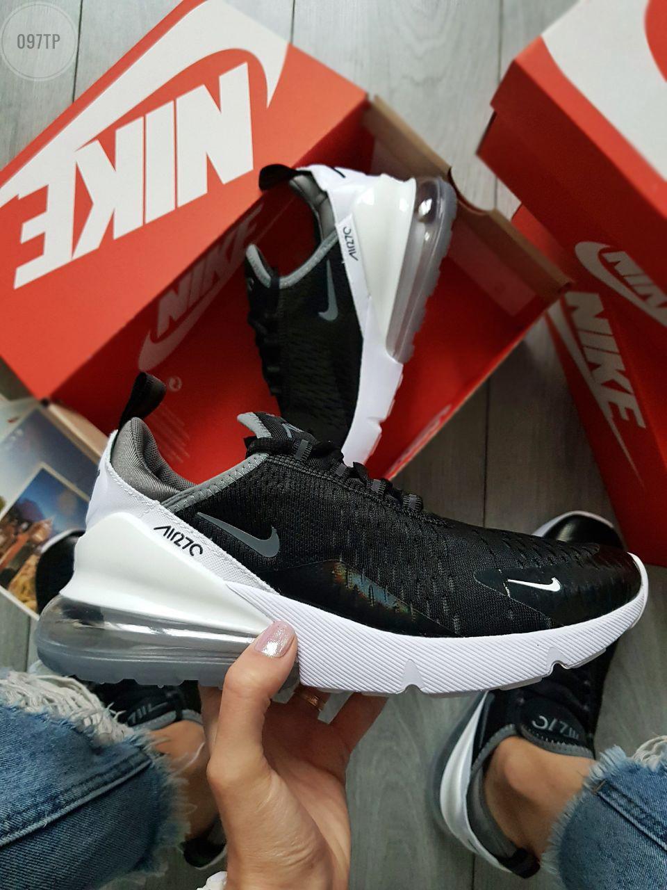 Мужские кроссовки Air Max 270 black white (40 и 43)