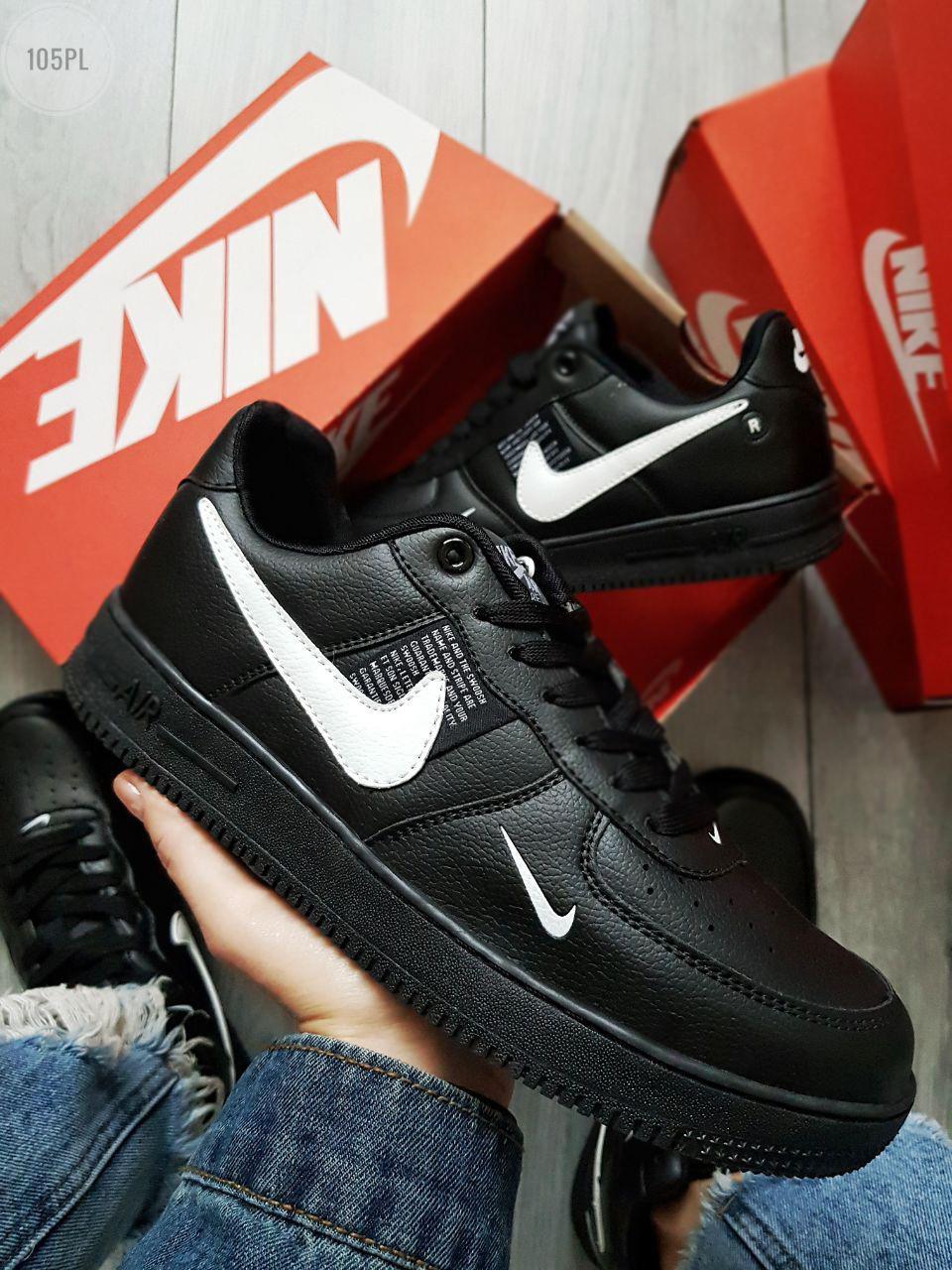Мужские кроссовки Nike Air Force 19 Low Black (р. 42,5) Черные