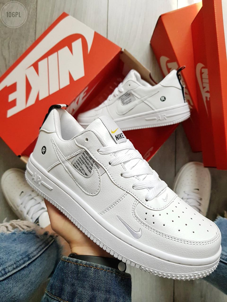 Мужские кроссовки Nike Air Force 19 Low Total White (р. 40-44) Белые
