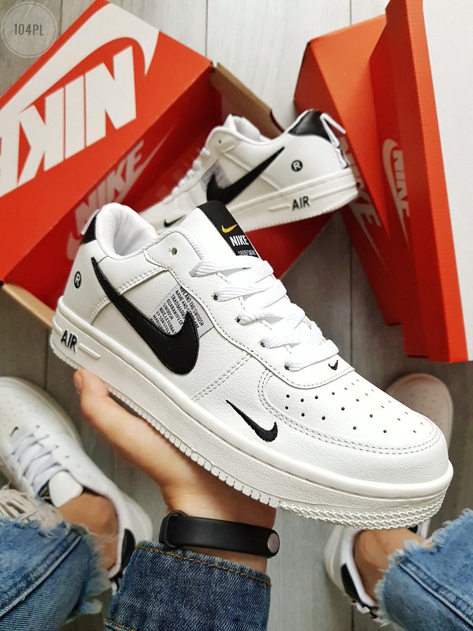 Мужские кроссовки Nike Air Force 19 Low White (р.40 и 43) Белые