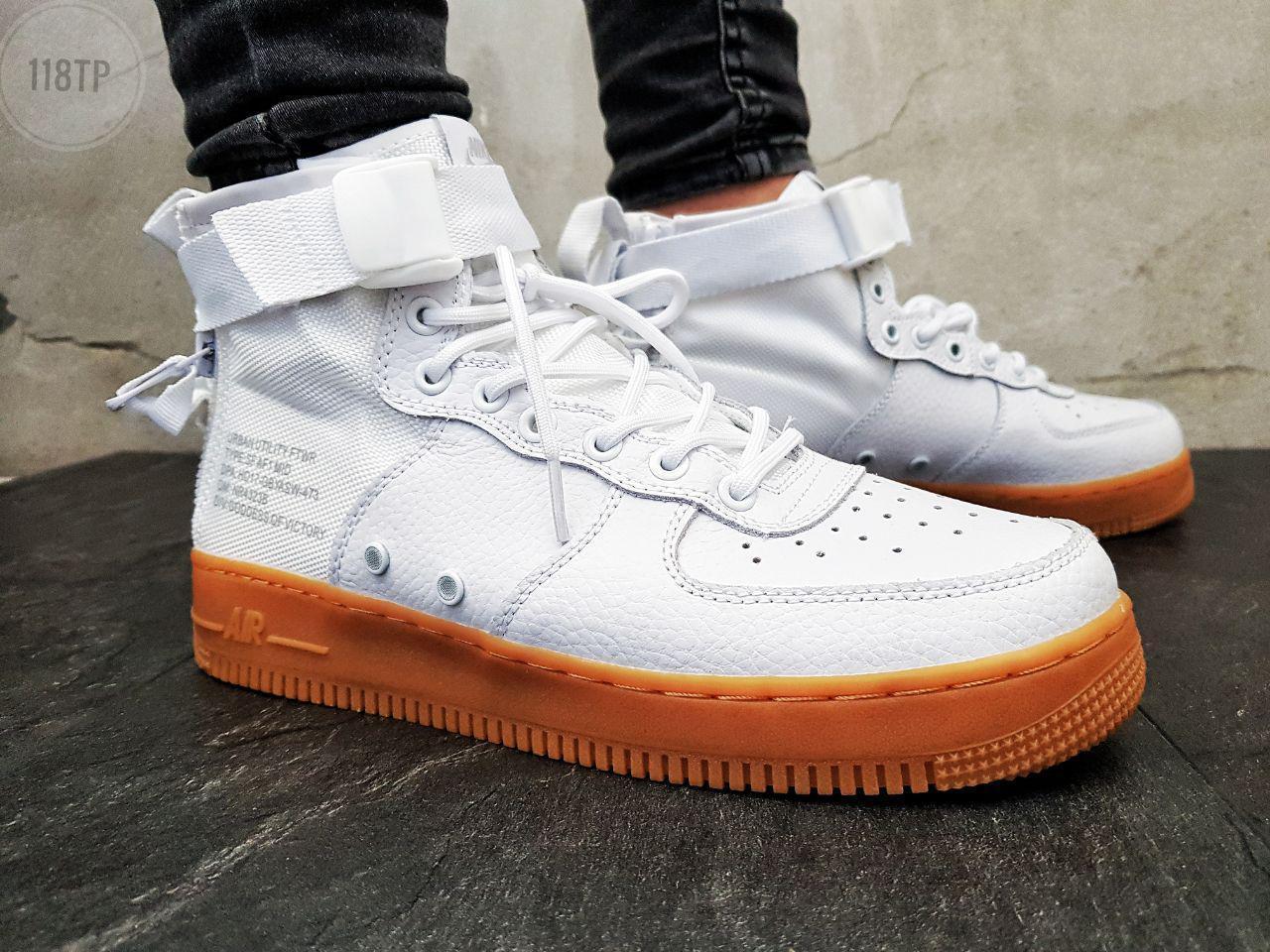 Мужские кроссовки Nike Air Force Hight White Gum (р. 42 и 45)
