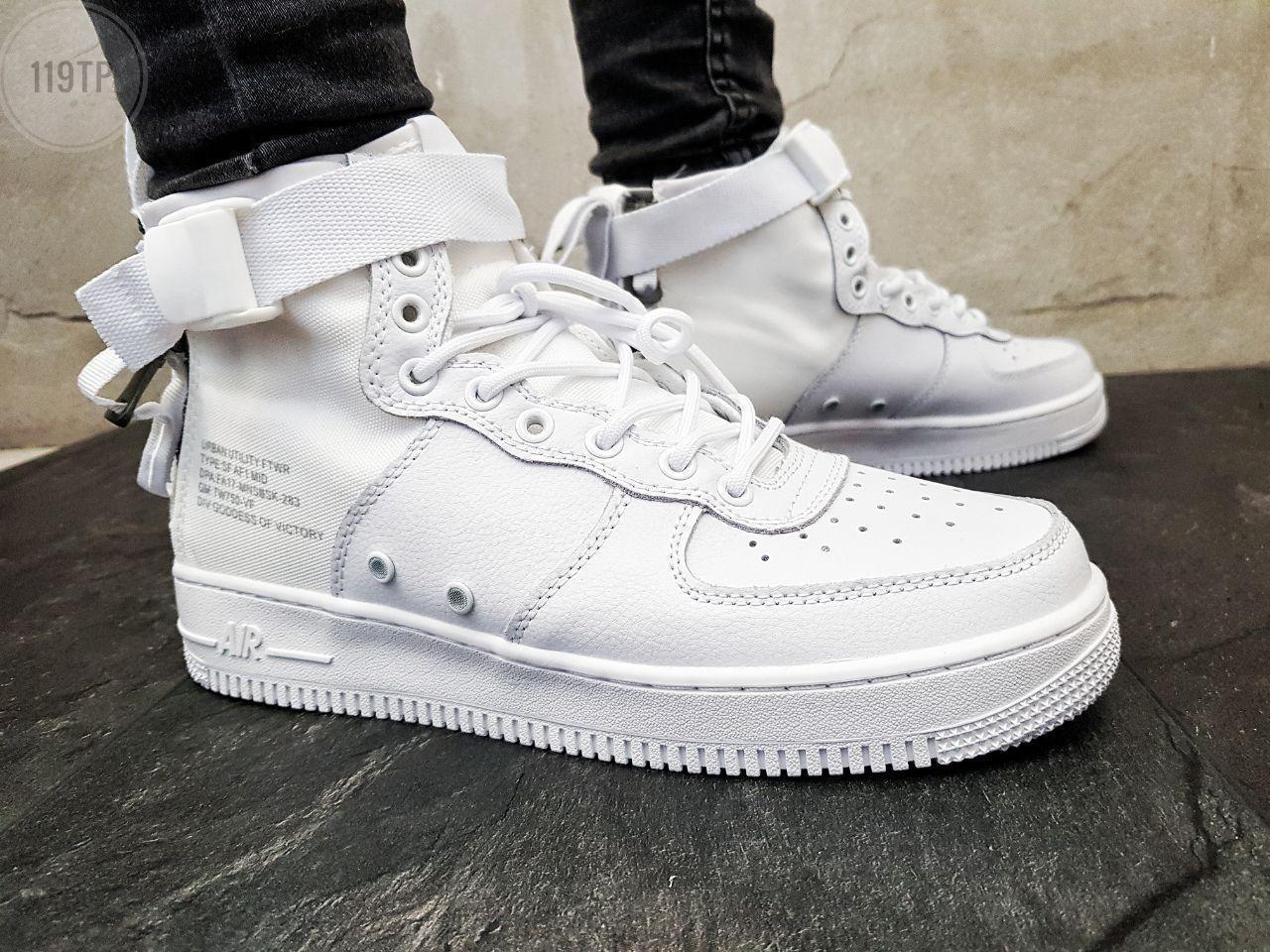 Мужские кроссовки Nike Air Force Hight White Белые