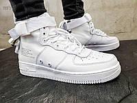 Мужские кроссовки Nike Air Force Hight White Белые, фото 1