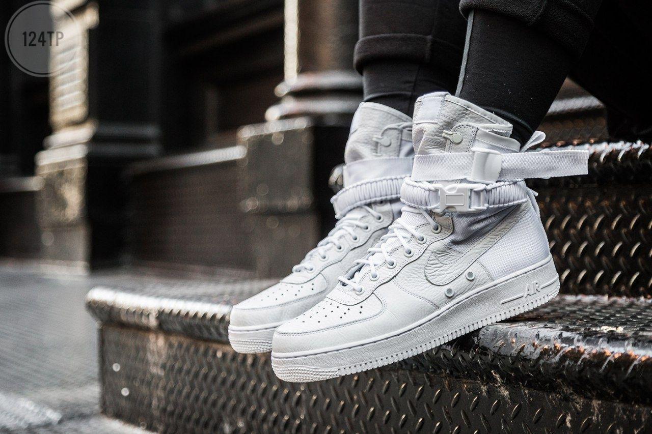 Мужские кроссовки Nike Air Force Hight White (р. 42 44 45) Белые