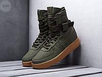 Мужские кроссовки Nike Air Force Hight Haki Gum (р. 42) Хаки, фото 1