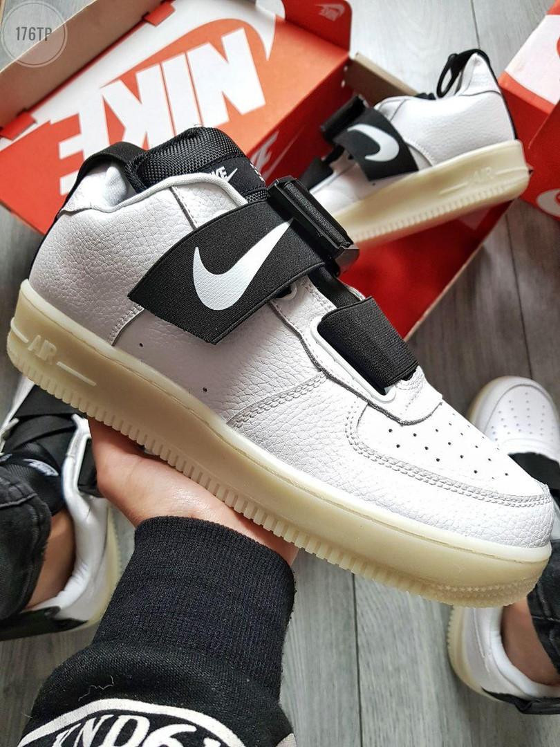 Мужские кроссовки Nike Air Force 1 UTILITY White (р. 43 и 44) белые
