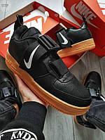 Мужские кроссовки Nike Air Force 1 UTILITY Black Gum, фото 1