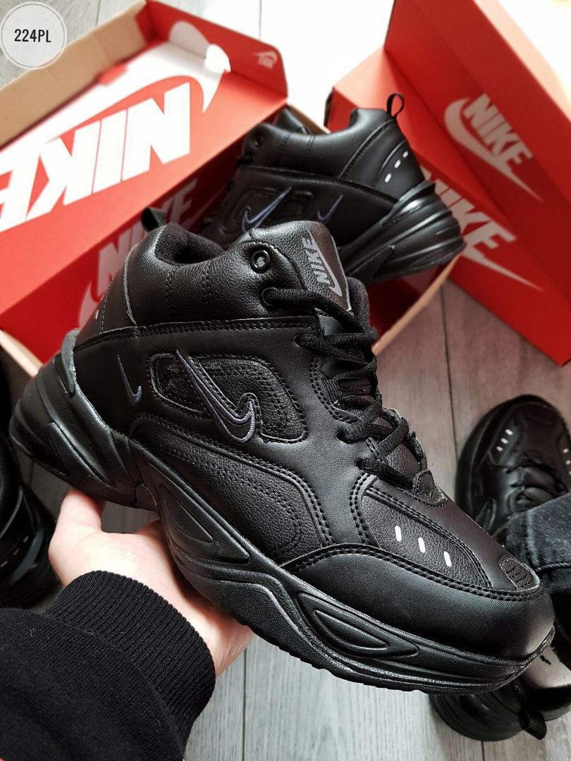 ЗИМА!!! Мужские кроссовки Nike M2 Tekno Black Winter (р. 40-43) Черные зимние