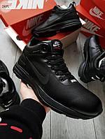 ЗИМА!!! Мужские кроссовки Air Black Winter (р. 41-44) Черные зимние, фото 1