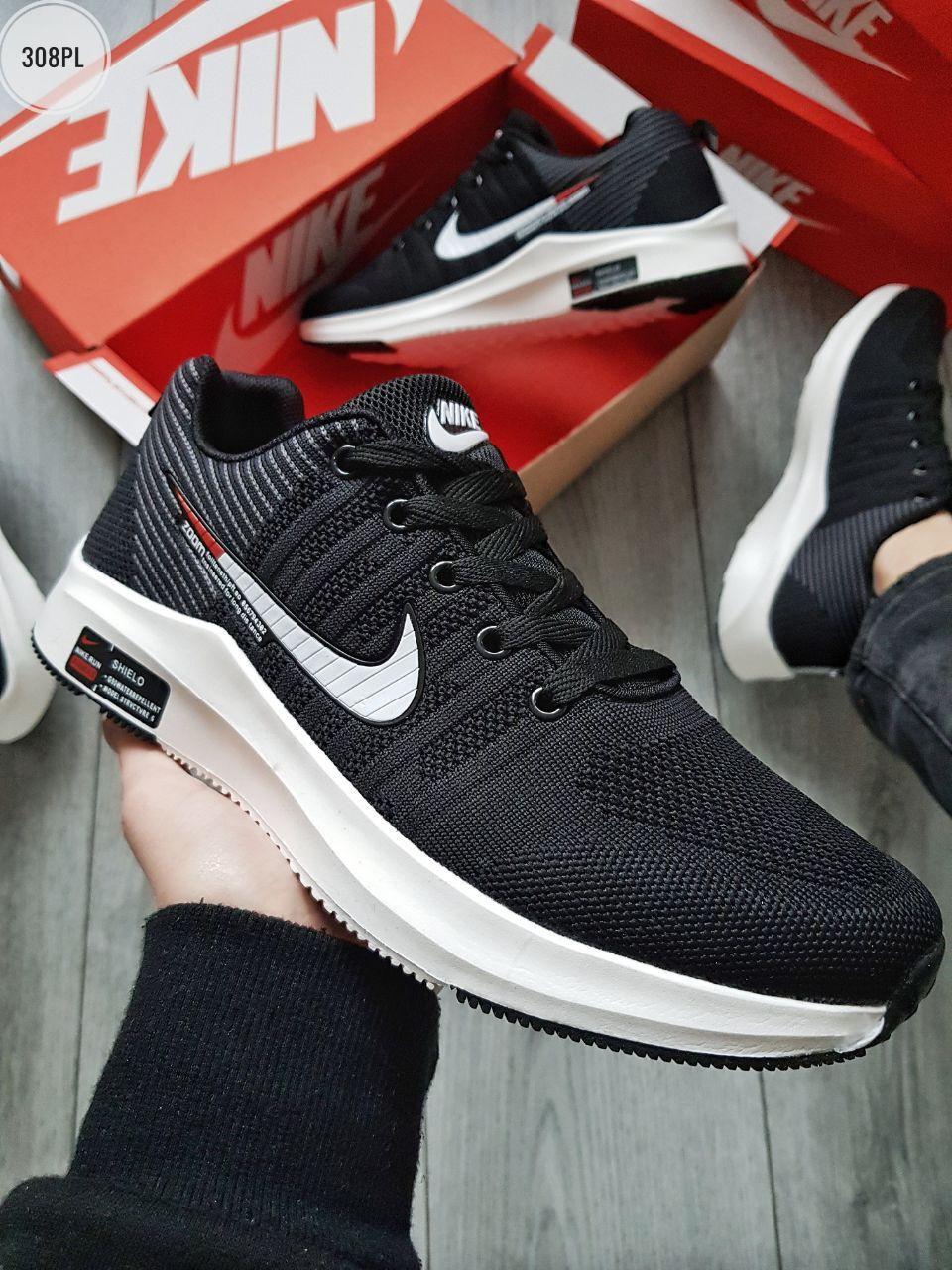 Мужские кроссовки Nike Zооm Black черные р. 41-44