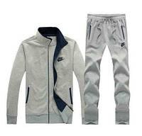Тонкий спортивный костюм Nike, серый на молнии