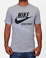 Футболка Nike меланж (светло-серая) XL