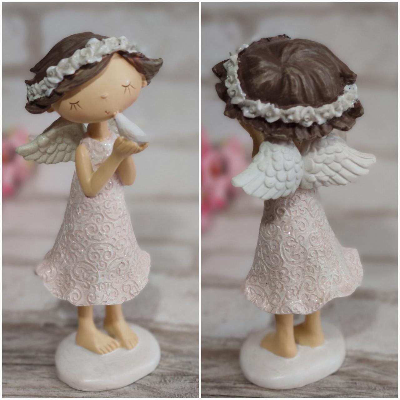 Статуетка Дівчинки-агела із полікераміки, сувенір, настільна, ретро, 20 см., 275/245 (ціна за 1 шт. + 30 гр.)