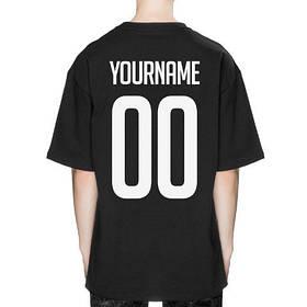 Футболка со своим принтом, именная футболка черная