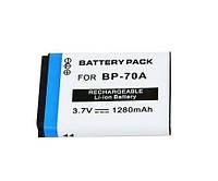 Аккумулятор BP70A (BP-70A, BP-70EP, EA-BP70A, EA-BP70A, SLB-70A) для камер SAMSUNG - 1280 ma