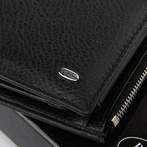 Мужской кожаный кошелек Dr.BOND 10 x 19 x 3 см Черный (mb-2), фото 2