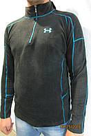 Мужская толстовка X-FIT №666 темно синия флисовая код 177в