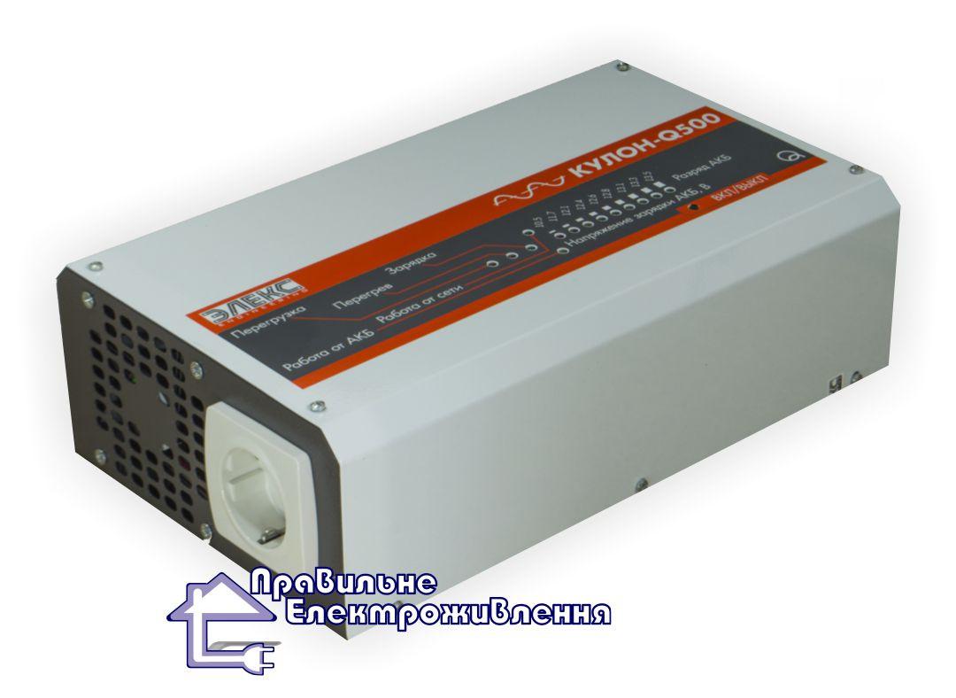 Безперебійний блок живлення Елекс Кулон 500Q ( 350Вт, 12В )