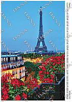 Схема для вышивки бисером Париж